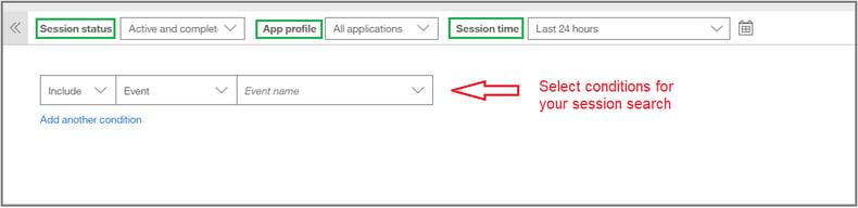 Advanced Session Search - 1