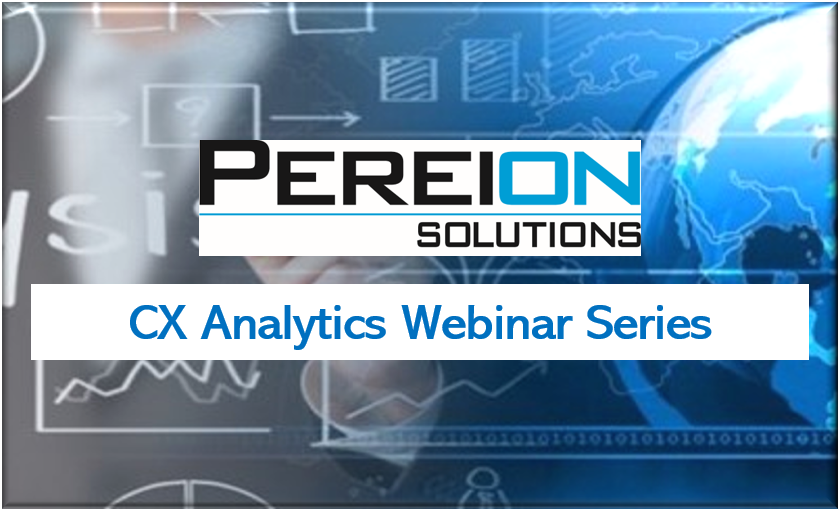 CX analytic webinar series