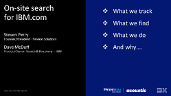 Presentation - On site search IBM-com Final Draft