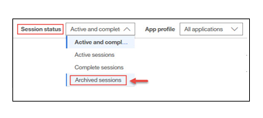 Session Search for archived sessions_image