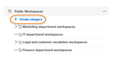Workspace categories